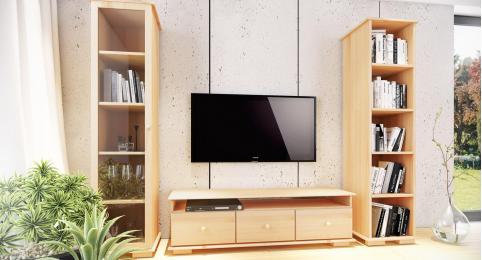 Sosnowa szafka RTV w Twoim salonie